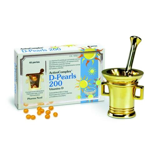 ACTIVECOMPLEX D- PEARLS 200 VIT D3 (40 PERLAS)