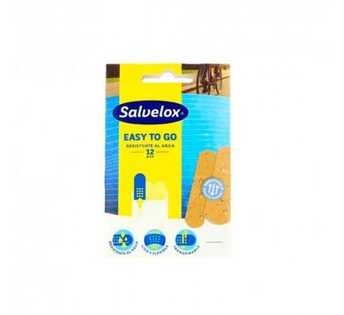 Salvelox easy to go - aposito adhesivo resistente al agua (12 u)