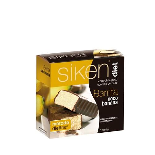 SIKEN DIET BARRITA COCO BANANA (5 BAR 36 G)