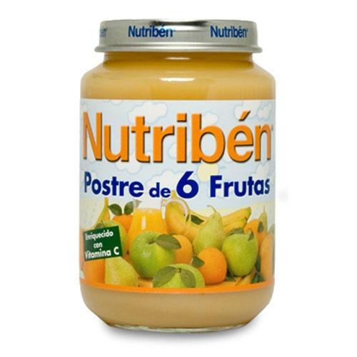 NUTRIBEN POSTRE DE 6 FRUTAS (POTITO JUNIOR 200 G)