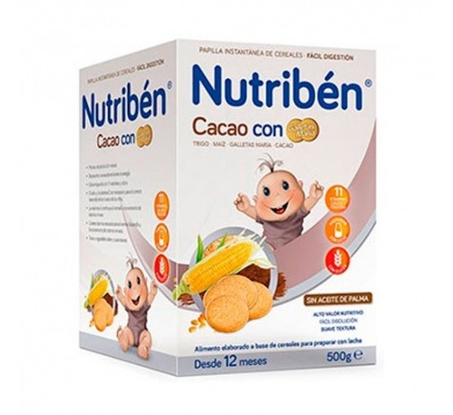 NUTRIBEN CACAO CON GALLETAS MARIA (600 G)