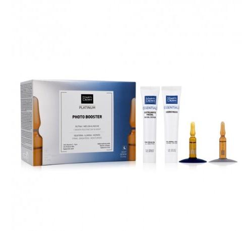 Martiderm photo booster - photoage ha + night renew + exfoliante facial + hydro mask (kit 15 ampolla