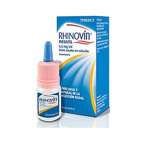 RHINOVÍN INFANTIL 0,5 MG/ML GOTAS NASALES EN SOLUCIÓN, 1 frasco de 10 ml