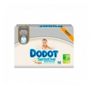 PAÑAL INFANTIL - DODOT SENSITIVE RECIEN NACIDO (T- 3  5-10 KG 40 U)
