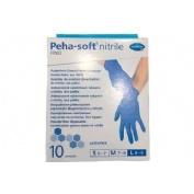 GUANTES DESECHABLES DE NITRILO - PEHA-SOFT NITRILE FINO (T- L 10 U)