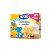 Nestle papilla 8 cereales lista para tomar (2 bricks 250 ml)