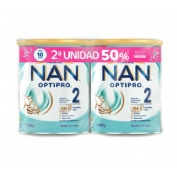 Nan optipro 2 leche de continuacion (duplo 2 x 800 g)
