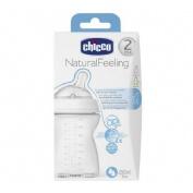 BIBERON PLASTICO PP T SILICONA BOCA ANCHA - CHICCO STEP UP NATURAL FEELING (0% BISFENOL) FLUJO MEDIO