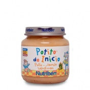 NUTRIBEN BEBE JAMON POLLO VERDURAS 130 G.