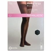 Media larga (a-f) comp ligera - farmalastic blonda (negra t- egde)