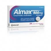 ALMAX 500 mg COMPRIMIDOS MASTICABLES,24 comprimidos