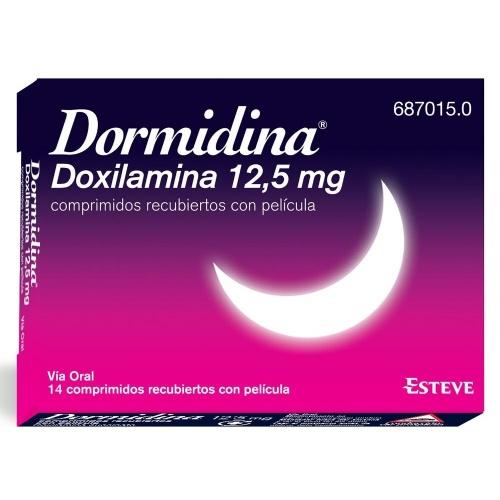 DORMIDINA DOXILAMINA 12,5 mg COMPRIMIDOS RECUBIERTOS CON PELICULA , 14 comprimidos