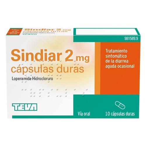 SINDIAR 2 mg CAPSULAS DURAS , 10 cápsulas