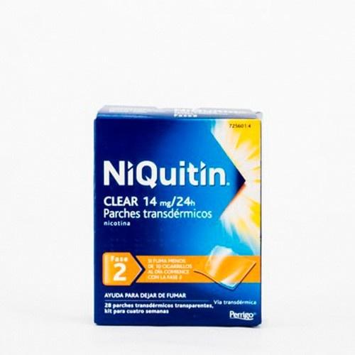 NIQUITIN CLEAR 14 MG/24 HORAS PARCHE TRANSDERMICO 28 parches transdérmicos