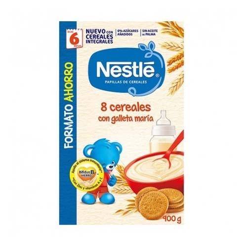 Nestle papilla 8 cereales galleta maria (2 envases 900 g)