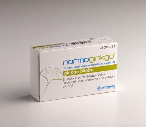 NORMOGINKGO 70 mg COMPRIMIDOS RECUBIERTOS CON PELICULA, 30 comprimidos
