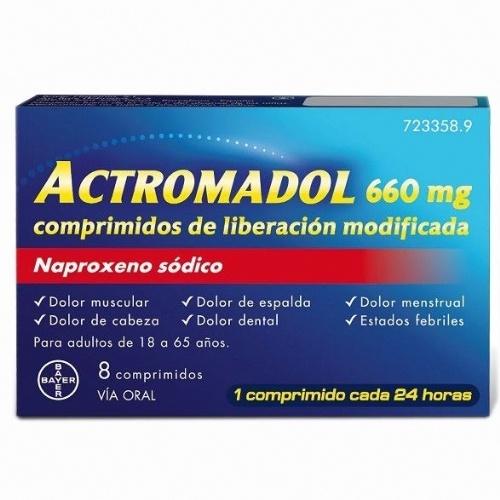 ACTROMADOL 660 MG COMPRIMIDOS DE LIBERACIÓN MODIFICADA 8 comprimidos