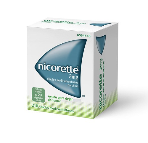 NICORETTE 2 mg CHICLES MEDICAMENTOSOS, 210 chicles