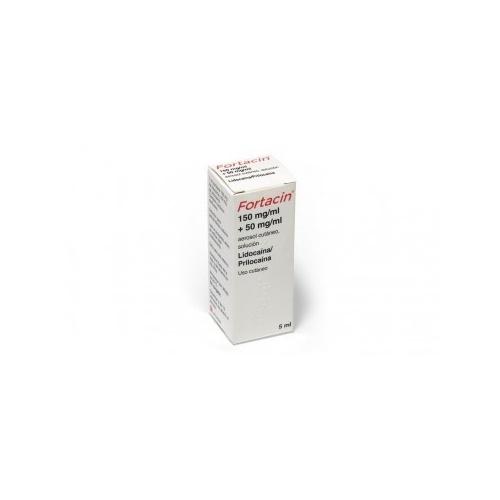 FORTACIN 150 MG/ML + 50 MG/ML SOLUCION PARA PULVERIZACION CUTANEA, 1 aerosol de 5,0 ml