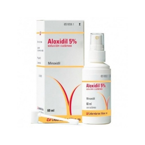 ALOXIDIL 50 mg/ml  SOLUCION CUTANEA, 1 frasco de 60 ml