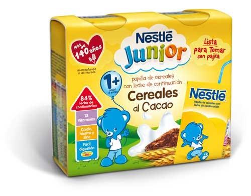Nestle papilla cereales al cacao - lista para tomar (2 bricks 250 ml)