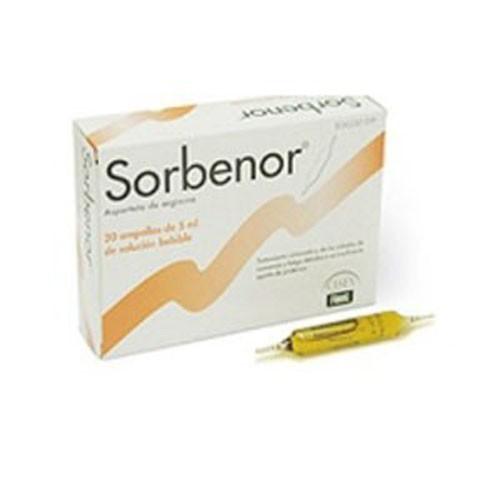 SORBENOR 1g SOLUCION ORAL , 20 ampollas bebibles de 5 ml