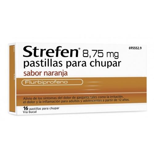STREFEN 8,75 MG PASTILLAS PARA CHUPAR SABOR NARANJA , 16 pastillas