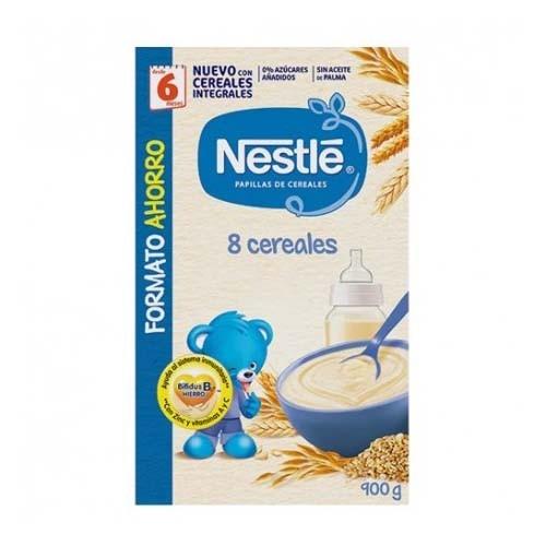 Nestle papilla 8 cereales (1 envase 900 g)