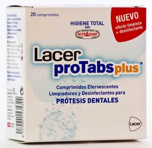 LACER PROTABS PLUS COMP - LIMPIADOR Y DESINFECT APARATO DE ORTODONCIA (20 COMPRIMIDOS)