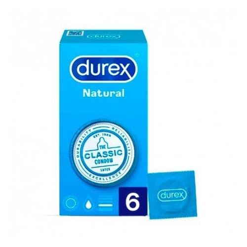 DUREX NATURAL PLUS - PRESERVATIVOS (6 U)