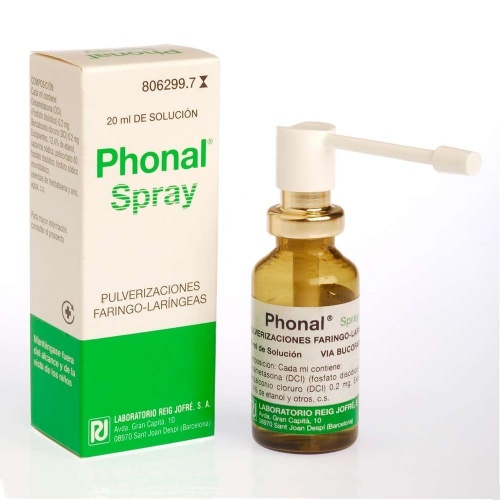 PHONAL PULVERIZACIONES, 1 frasco de 20 ml
