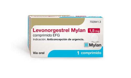 LEVONORGESTREL MYLAN 1,5 MG COMPRIMIDO EFG , 1 comprimido