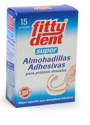FITTYDENT SUPERADH - ALMOHADILLAS ADHESIVAS PROTESIS (15 U)