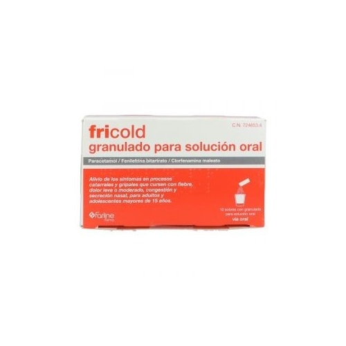 FRICOLD GRANULADO PARA SOLUCION ORAL, 10 sobres