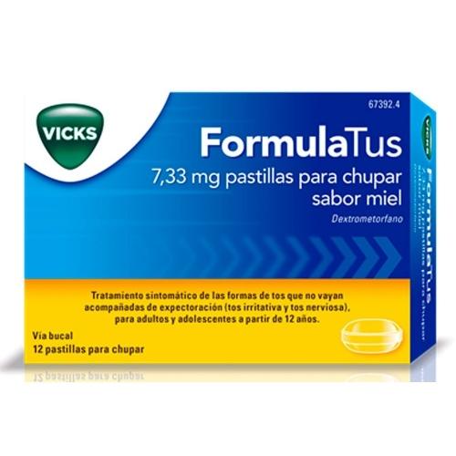 FORMULATUS 7,33 mg PASTILLAS PARA CHUPAR SABOR MIEL, 12 comprimidos
