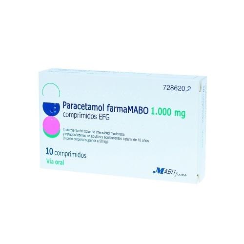 PARACETAMOL FARMAMABO 1000 MG COMPRIMIDOS EFG 10 comprimidos