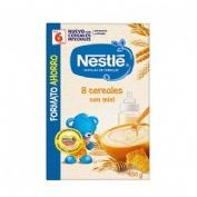 Nestle papilla 8 cereales con miel (1 envase 900 g)