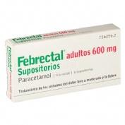 FEBRECTAL ADULTOS 600 mg SUPOSITORIOS , 6 supositorios