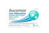 BUCOMAX CON LIDOCAINA PASTILLAS PARA CHUPAR SABOR MENTA, 8 pastillas