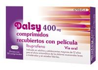 DALSY 400 mg COMPRIMIDOS RECUBIERTOS CON PELICULA , 30 comprimidos