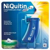 NIQUITIN 4 mg COMPRIMIDOS PARA CHUPAR SABOR MENTA , 20 comprimidos