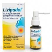 LIZIPADOL 17,86 MG/ML SOLUCION PARA PULVERIZACION BUCAL , 20 ml