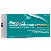 GAVISCON COMPRIMIDOS MASTICABLES SABOR MENTA , 32 comprimidos (BLISTER)