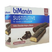 BIMANAN BARRITA CHOCOLATE NEGRO Y BLANCO (320 G 40 G X 8 U)